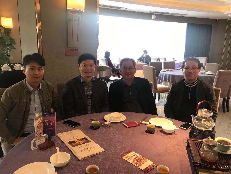与韩国集团董事长一行吃饭,谈合作